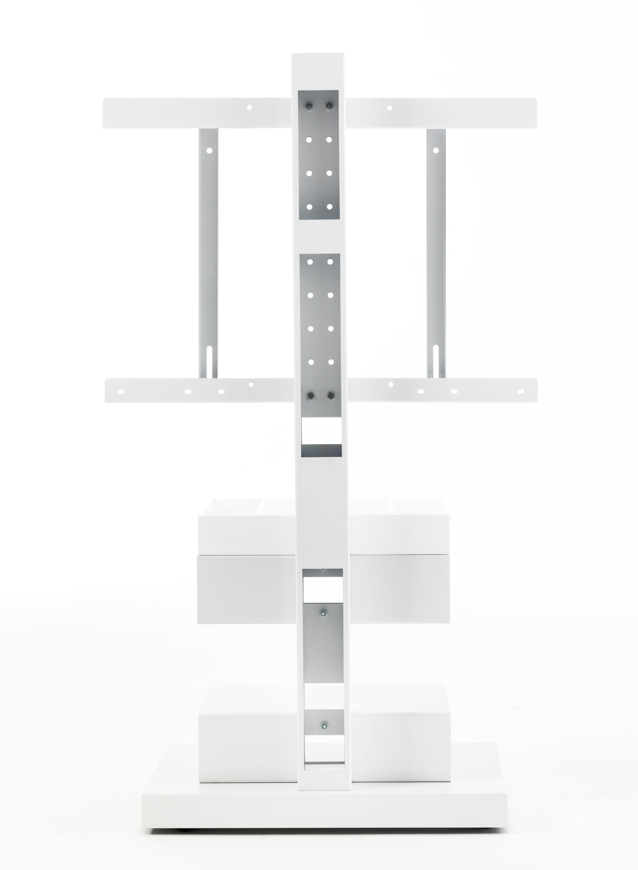 Meuble tv ptolomeo pour cran de 20 42 pouces blanc for Meuble tv 55 pouce
