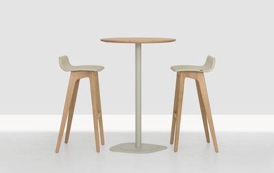 tabouret de bar morph assise cuir h 80 cm structure ch ne naturel rev tement cuir beige. Black Bedroom Furniture Sets. Home Design Ideas
