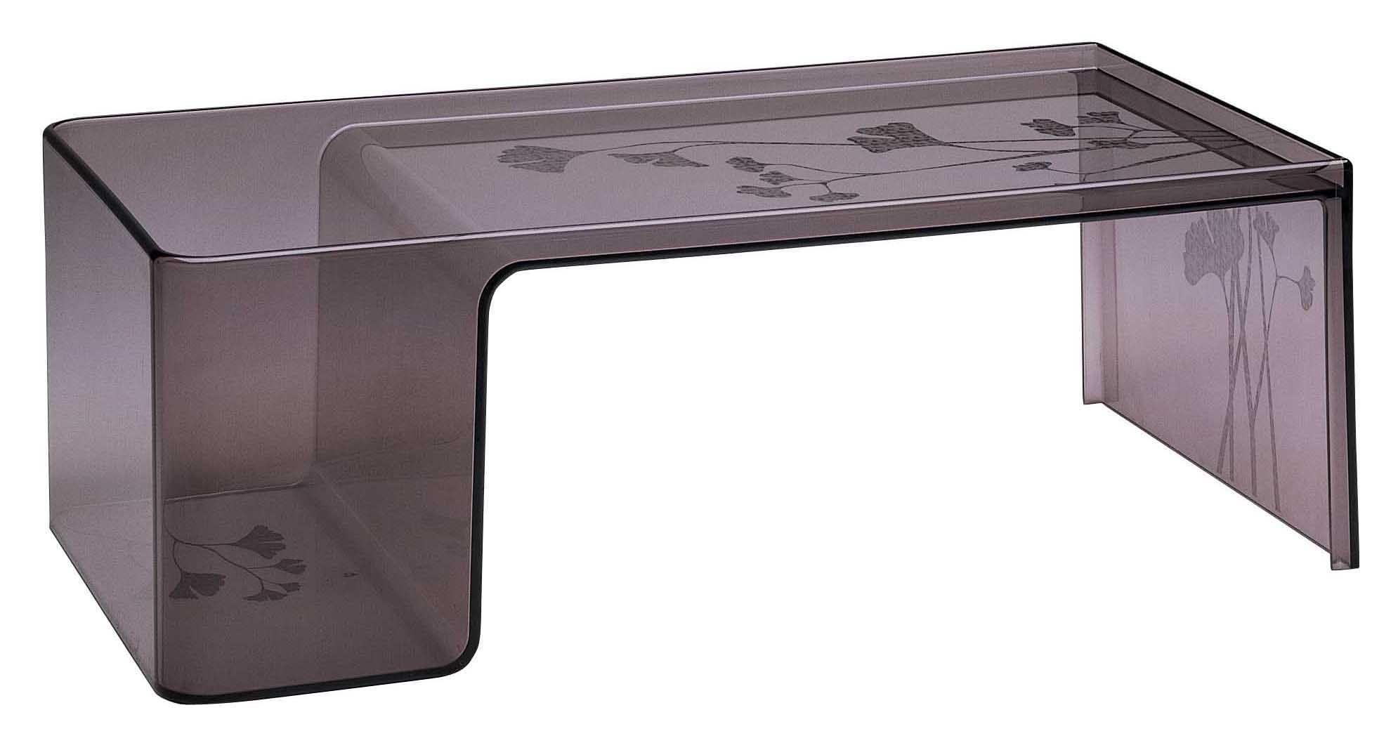 Usame Coffee Table Black Smoke By Kartell