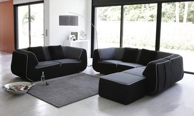 canap droit bump by ora ito xl 3 places l 238 cm noir noir dunlopillo. Black Bedroom Furniture Sets. Home Design Ideas