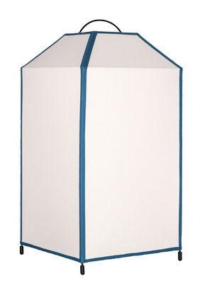 Foto Lampada da tavolo Charlie / H 45 cm - Sarah Lavoine - Bianco,Blu - Tessuto Maison Sarah Lavoine