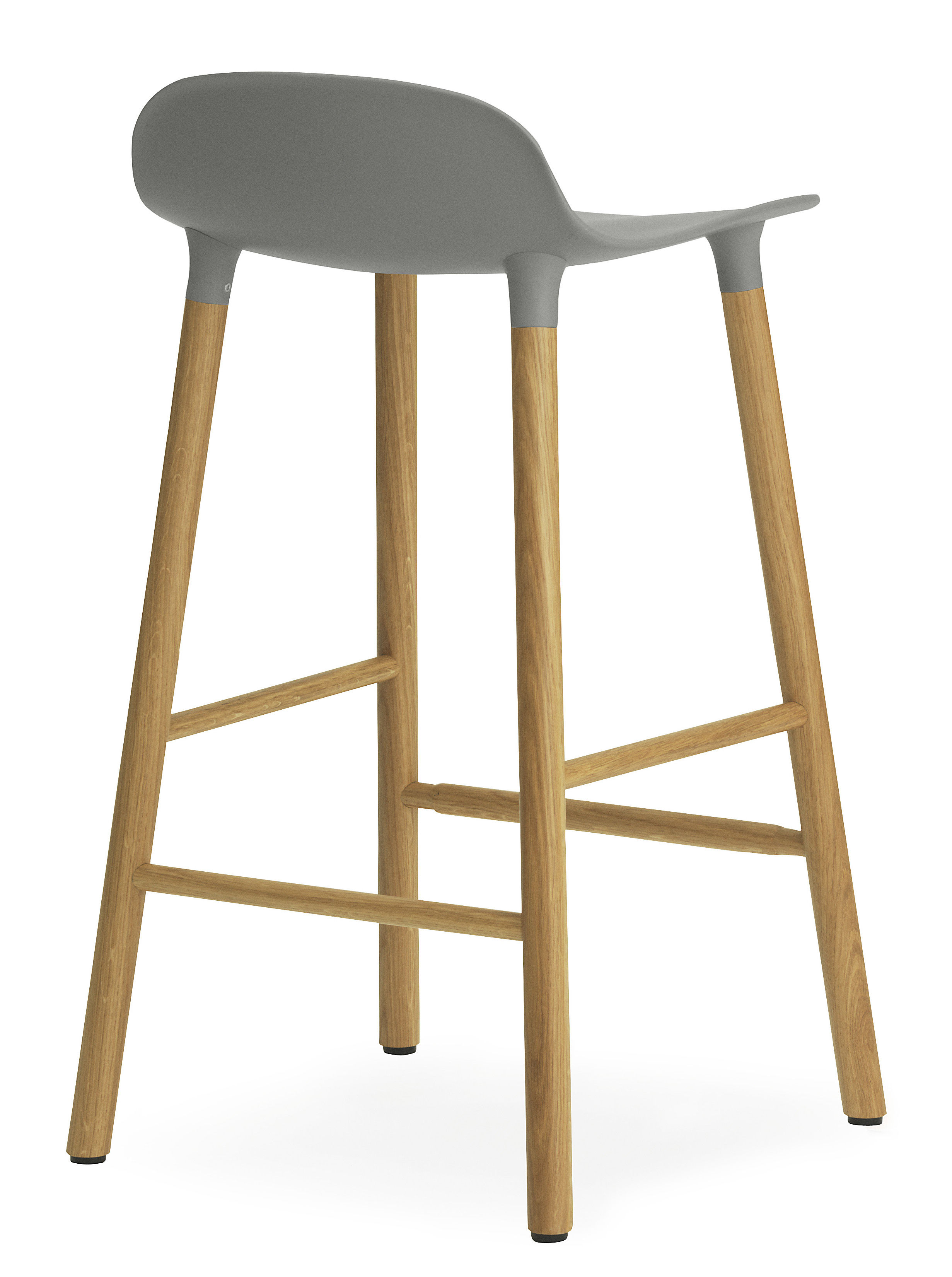 tabouret de bar form h 65 cm pied ch ne gris ch ne normann copenhagen. Black Bedroom Furniture Sets. Home Design Ideas