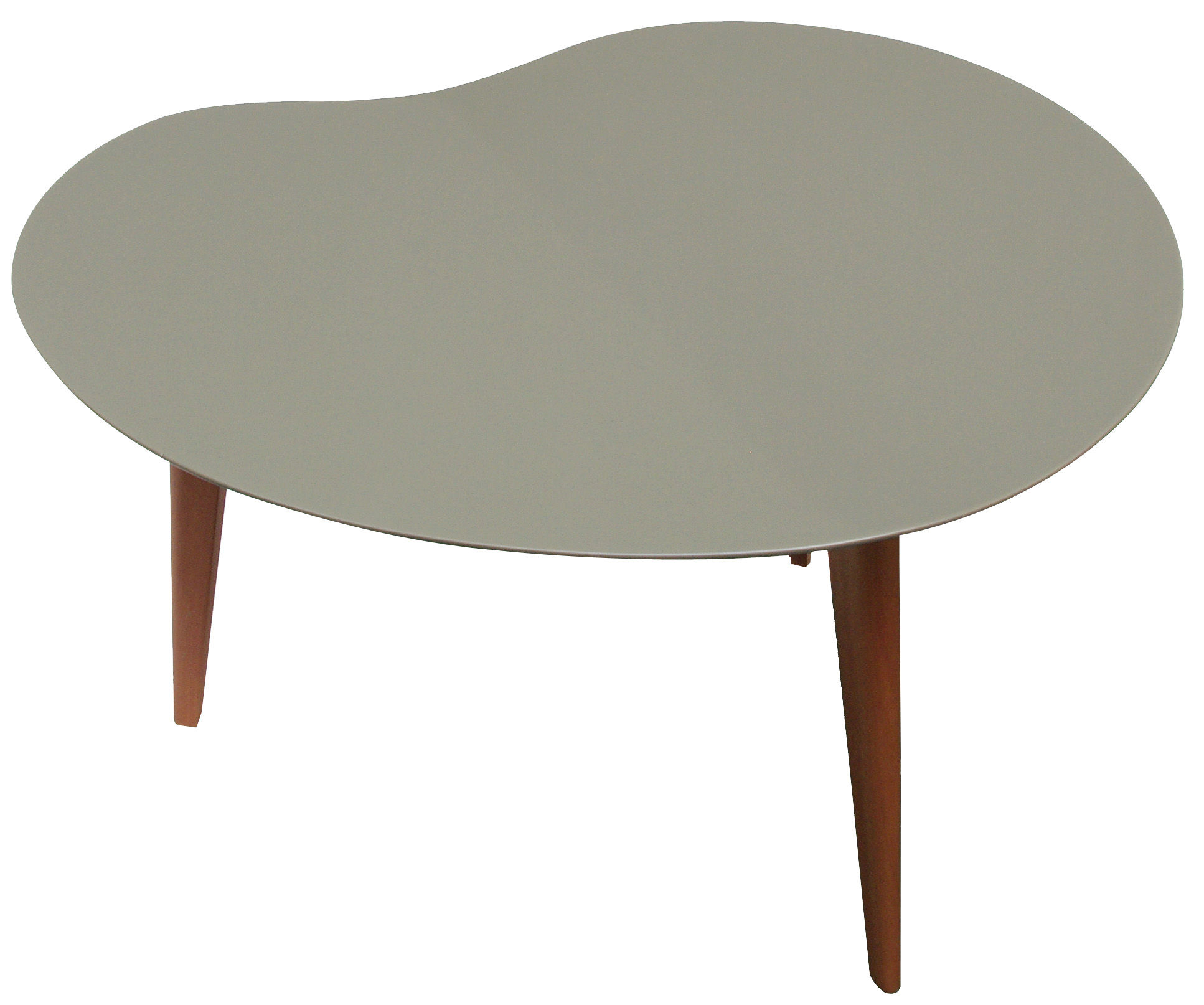 Lalinde coffee table free form large grey top wood for Free form wood coffee tables
