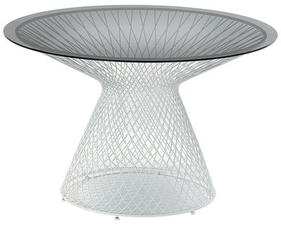 tavolo da giardino Heaven - Ø 120 cm di Emu - Bianco - Metallo