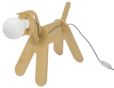 Foto Lampada da tavolo Get Out / Cane - ENOstudio - Grigio,Giallo senape - Legno