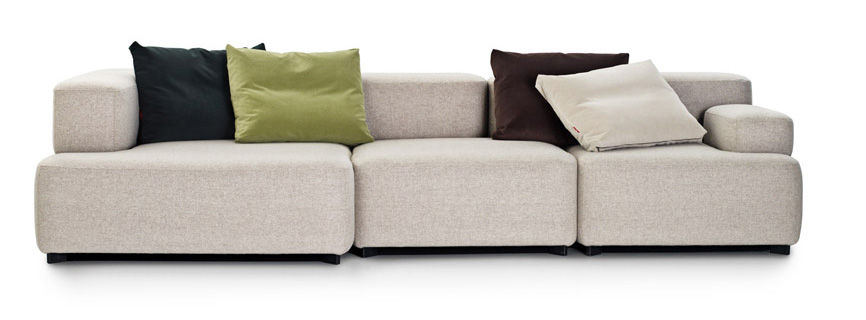 Alphabet straight sofa modular 3 seats l 300 x d 120 for Sofa 75 cm tief