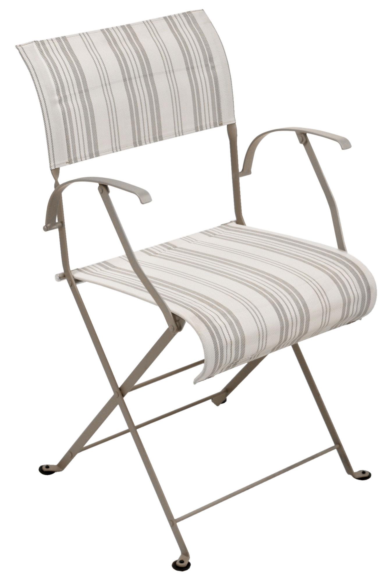 fauteuil pliant dune toile toile matelas fermob. Black Bedroom Furniture Sets. Home Design Ideas