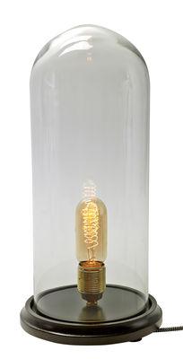 Foto Lampada da tavolo Globe / 40 cm -  Lampadina non in dotazione - Serax - Trasparente,Legno - Vetro