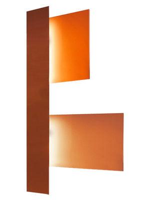 Foto Applique Fields 3 di Foscarini - Rosso,Arancione - Materiale plastico