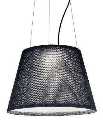 Foto Sospensione Tolomeo Paralume Outdoor / LED - Ø 52 cm - Artemide - Grigio - Tessuto