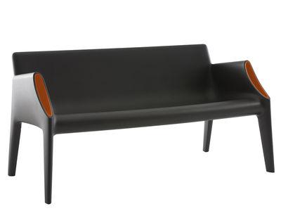 Foto Divano destro Magic Hole - interni/esterni di Kartell - Arancione,Nero - Materiale plastico