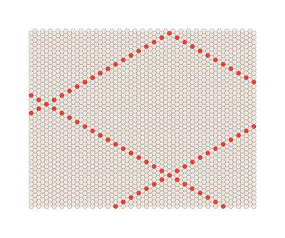 Foto Tappeto S&B Dot - 100 x 80 cm di Hay - Rosso,Beige - Tessuto
