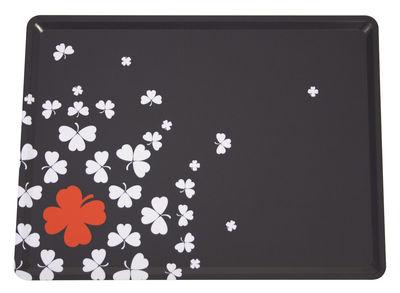 Foto Piano/vassoio Trèfle - / 28 x 20 cm di Fermob - Carbone - Materiale plastico