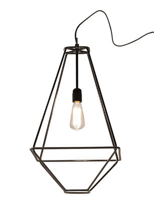 Foto Lampada da tavolo Con.Tradition Small - / 35 x 35 x H 63 cm di Opinion Ciatti - Cromato - Metallo