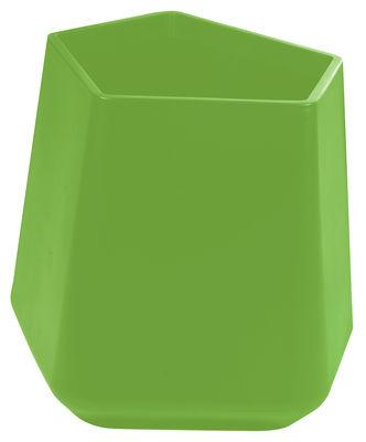 Foto Vaso per fiori Rock Garden - h 59 cm di Qui est Paul ? - Verde - Materiale plastico