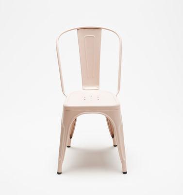 chaise empilable a acier couleur mate le corbusier rose clair tolix. Black Bedroom Furniture Sets. Home Design Ideas