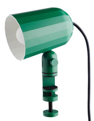 Foto Lampada a pinza Noc WH / Base a morsa - Wrong for Hay - Verde - Metallo wrong.london Lampada a clip
