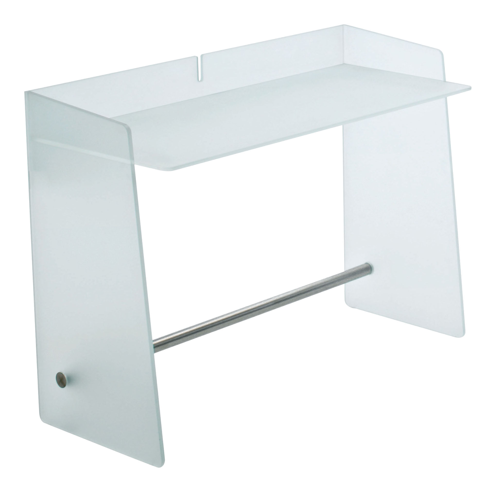bureau pirandello 110 x 49 cm d poli repose pieds aluminium satin glas italia. Black Bedroom Furniture Sets. Home Design Ideas