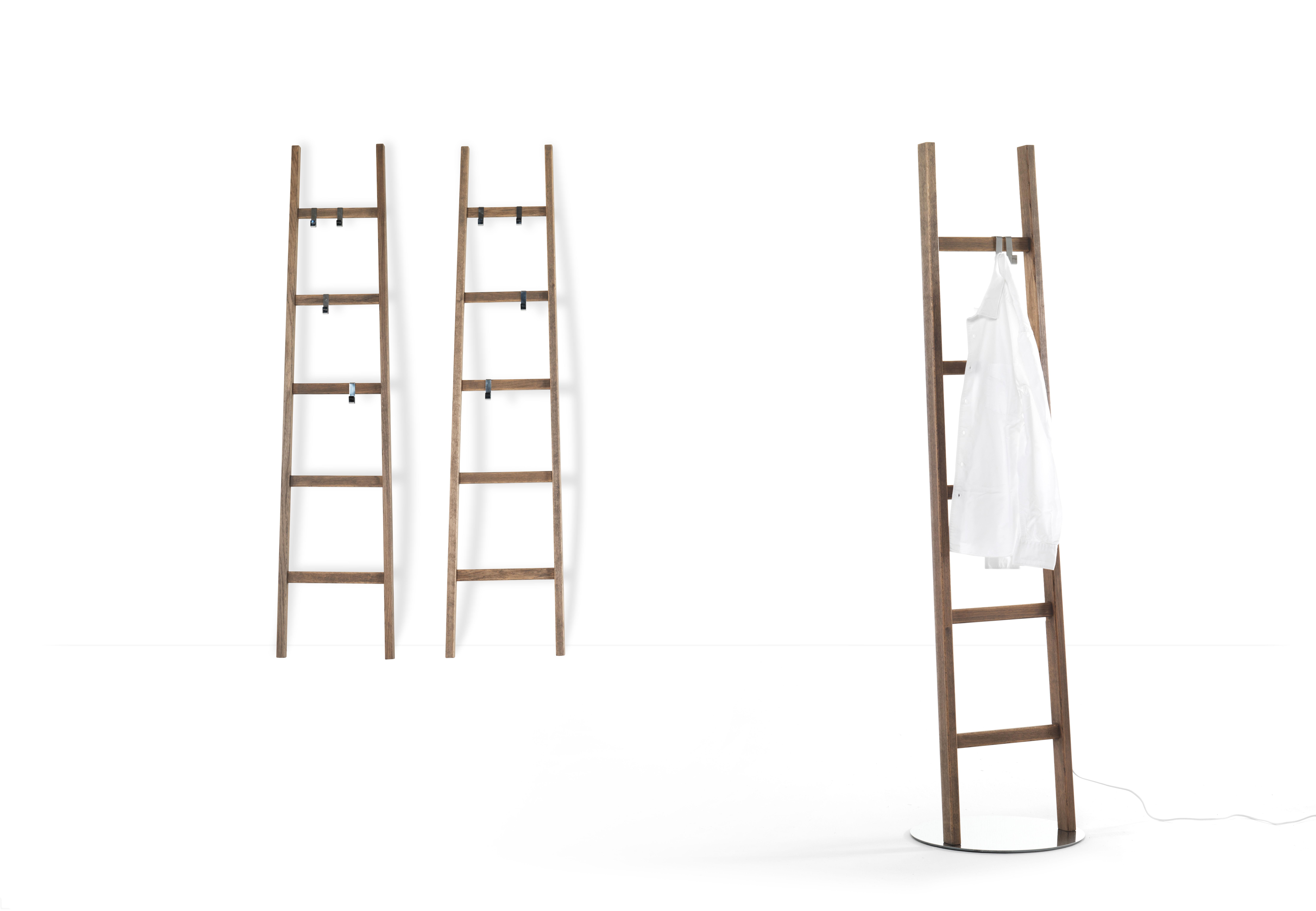 portemanteau lumineux alla scala h 190 cm echelle bois. Black Bedroom Furniture Sets. Home Design Ideas