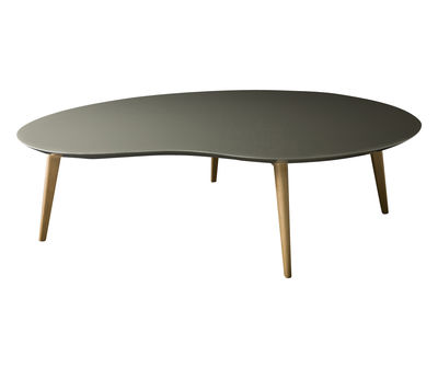 Table basse lalinde xxl haricot l 130cm pieds bois gris pieds ch ne s - Table basse trois pieds ...