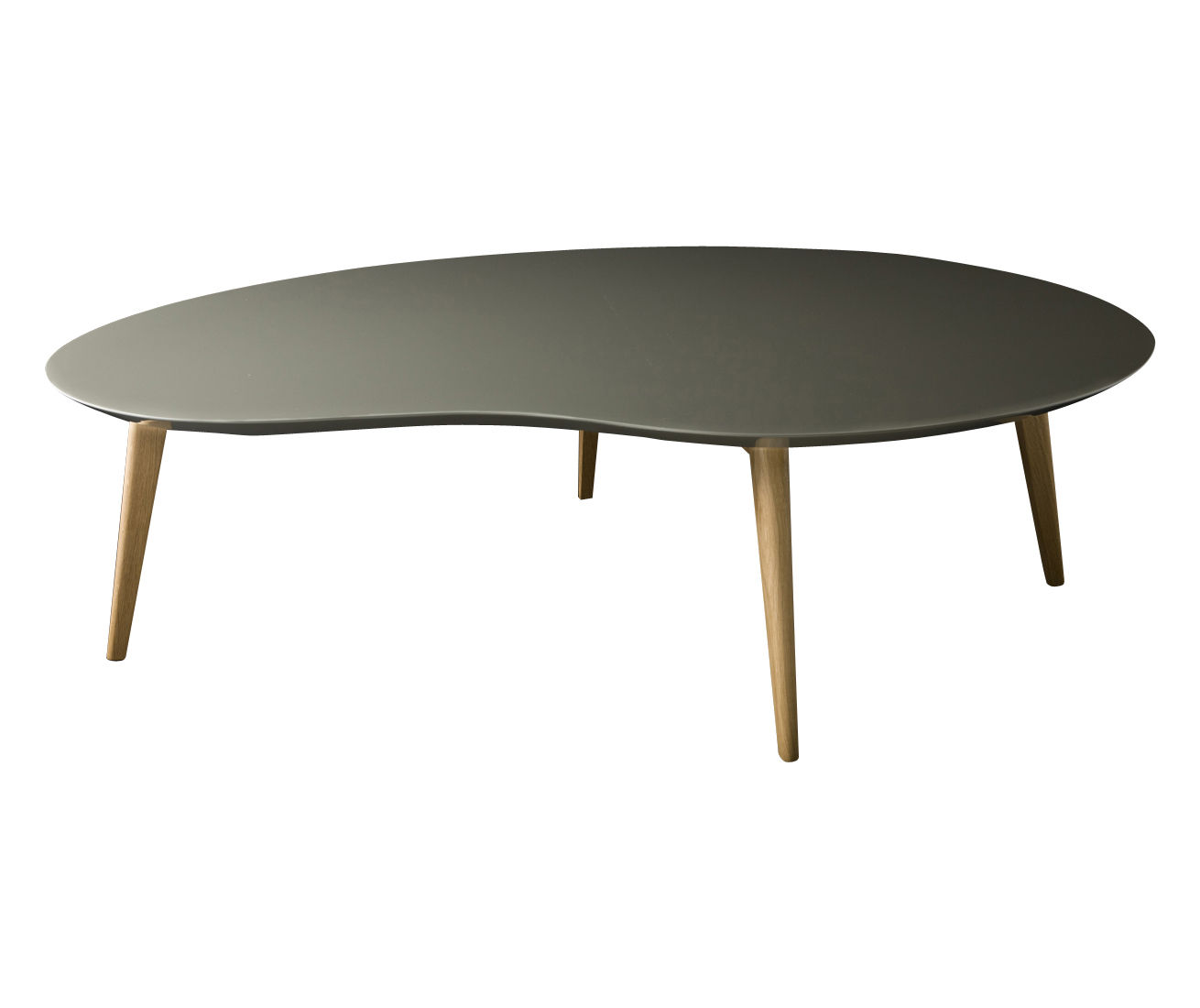 Lalinde xxl coffee table l 130cm wood legs grey by for Table design xxl