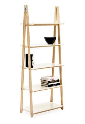 Etag re one step up h 200 cm bois tablettes blanc normann copenhagen - Etagere huis van de wereld ...