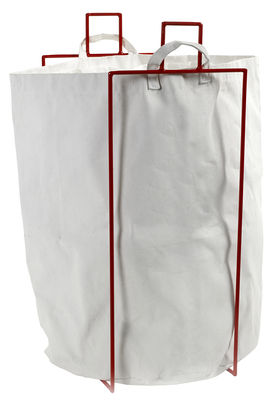 Foto Cestino per il bucato Laundryholder / Sacco rimovibile - Serax - Bianco,Rosso - Metallo Portabiancheria