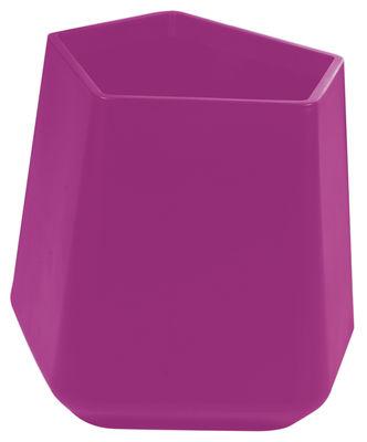 Foto Vaso per fiori Rock Garden - h 59 cm di Qui est Paul ? - Fucsia - Materiale plastico