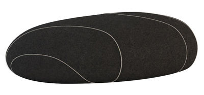 Foto Cuscino da pavimento Marc Livingstones - Versione in lana da interno di Smarin - Nero - Tessuto
