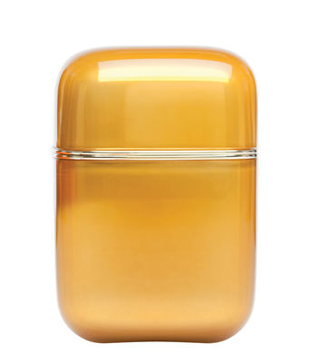 Foto Candela profumata Oyster / H 19 cm - 100 ore - Kartell Fragrances - Arancione - Materiale plastico