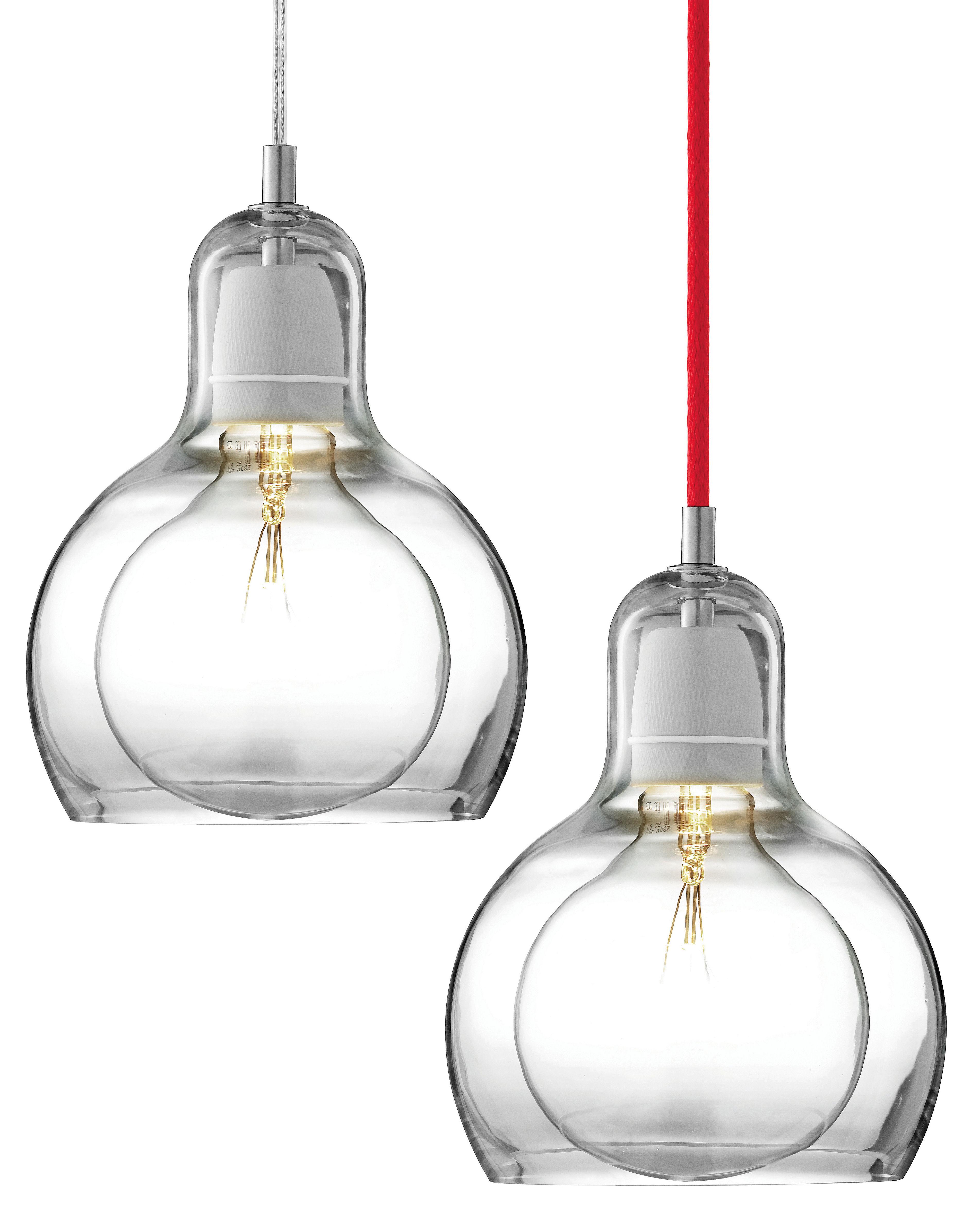 Mega bulb pendant 18 cm transparent cable for Mega comble