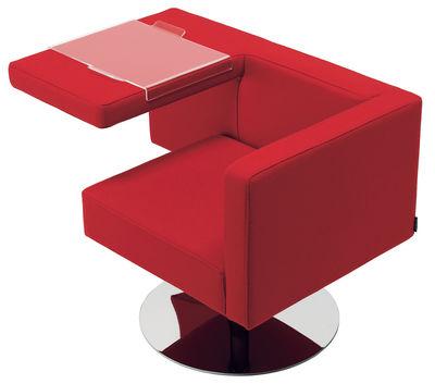 Poltrona imbottita Solitaire di Offecct - Rosso - Metallo