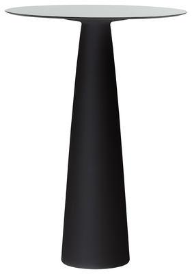 Foto Tavolo bar alto Hoplà- H 110 cm - / Ø 69 cm di Slide - Bianco,Nero - Materiale plastico