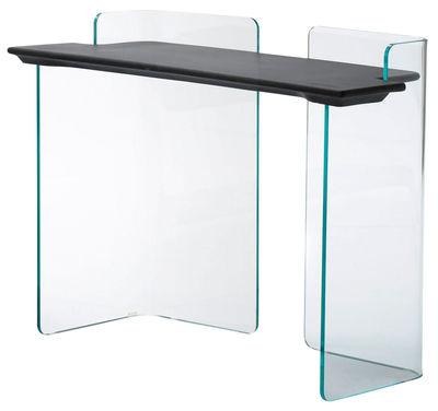 bureau highline console l 110 cm transparent b ton. Black Bedroom Furniture Sets. Home Design Ideas