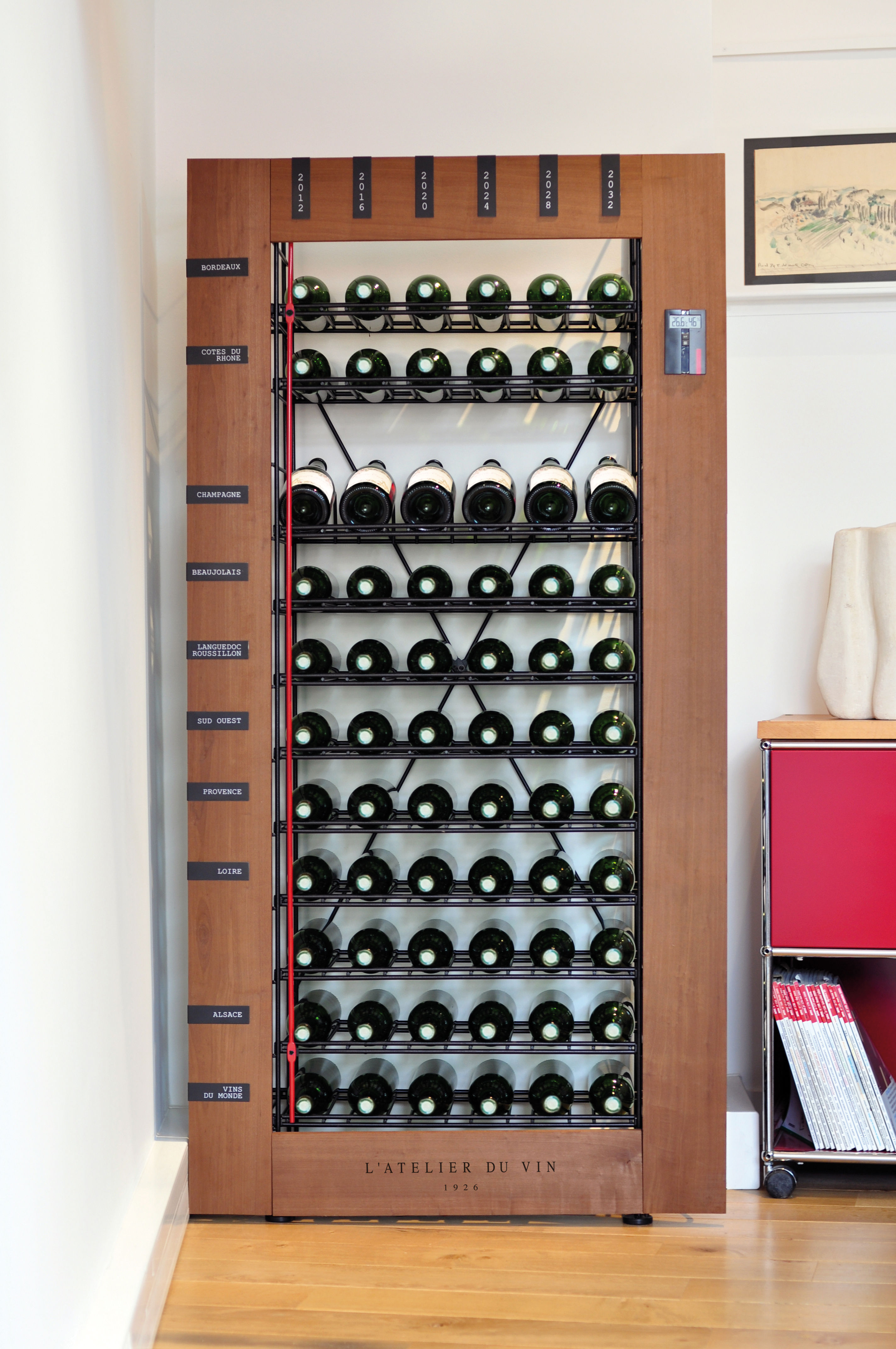 Smart wine cellar base unit wood black by l 39 atelier du vin - Meuble cave a vin en bois ...