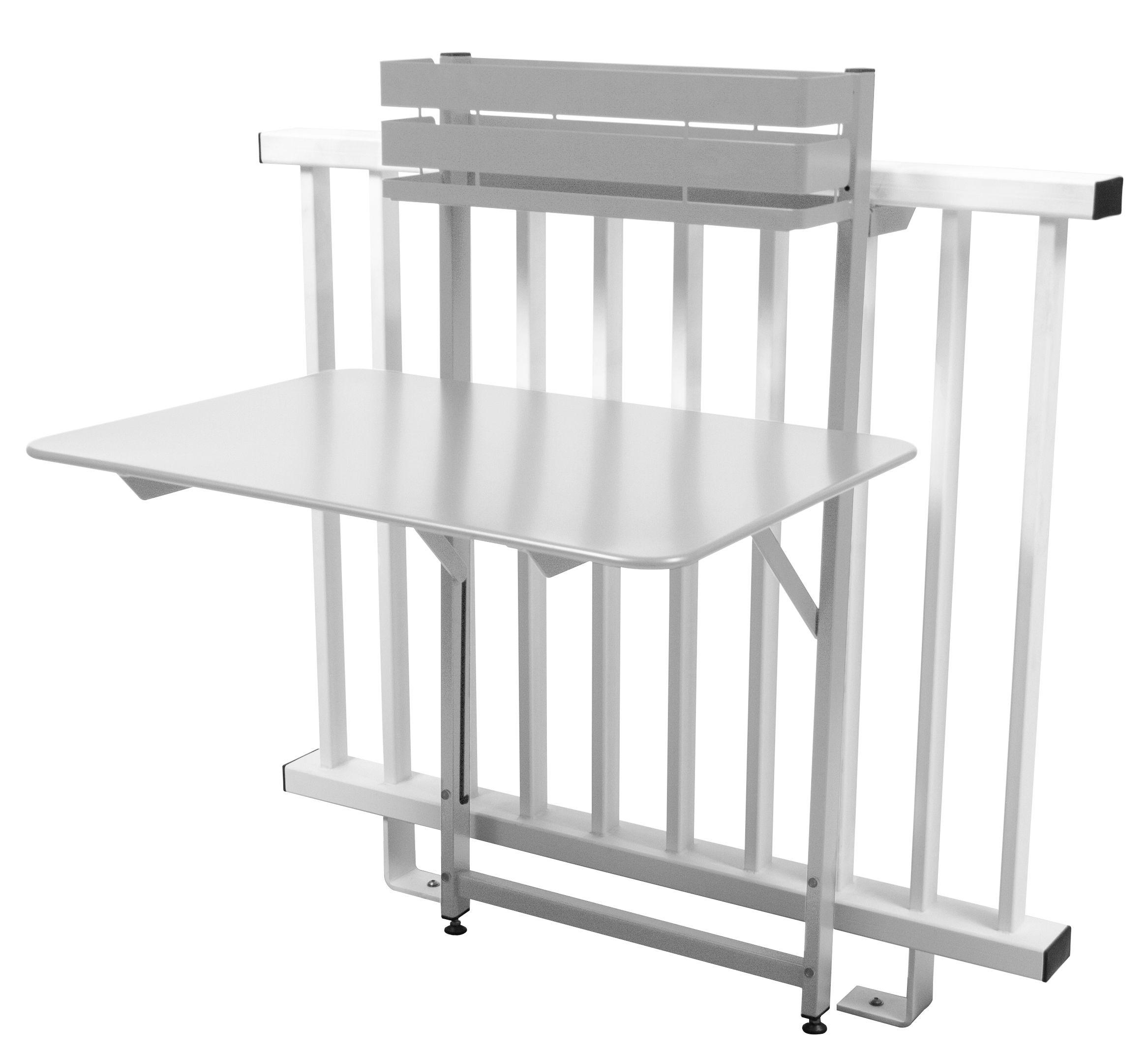 Table pliante balcon bistro rabattable 77 x 64 cm fermob gris m tal ebay Table balcon pliante rabattable