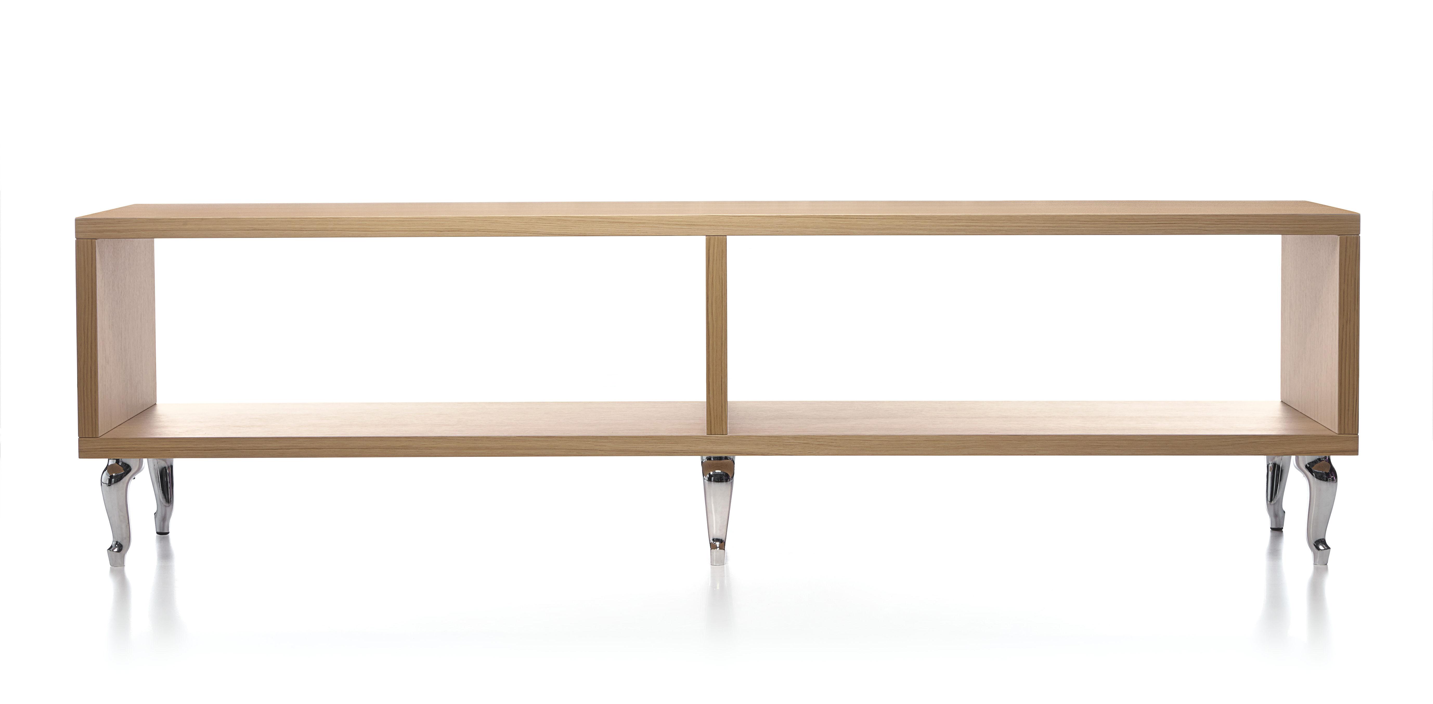 etag re bassotti basse l 180 x h 52 cm ch ne blanchi. Black Bedroom Furniture Sets. Home Design Ideas