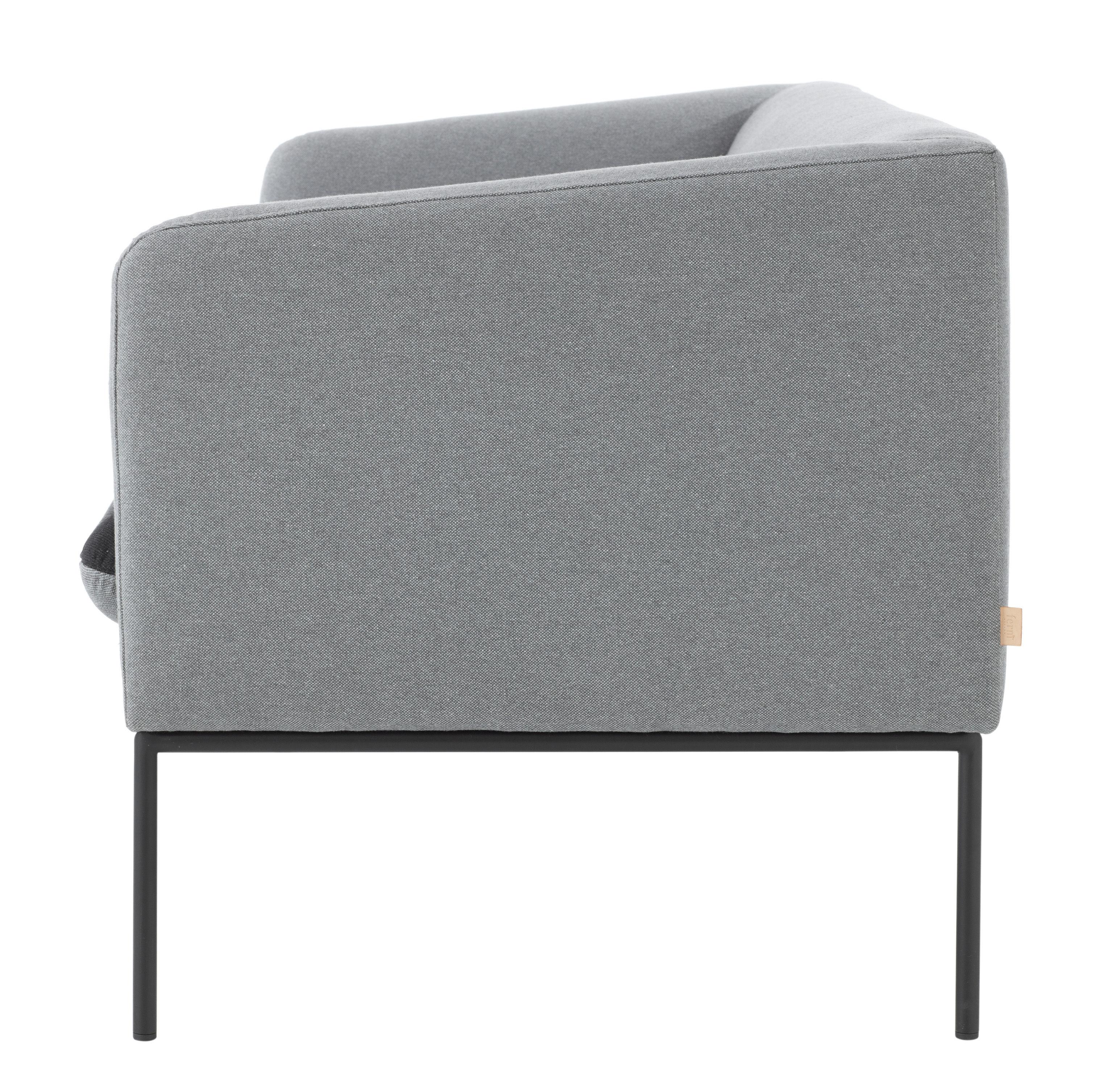 canap droit turn l 160 cm 2 places gris clair gris fonc ferm living. Black Bedroom Furniture Sets. Home Design Ideas