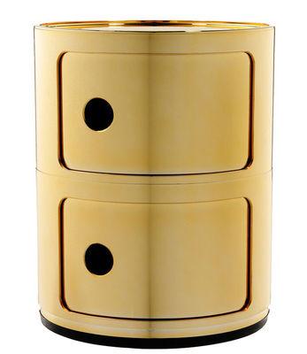 Foto Portaoggetti Componibili - / 2 cassetti - Metallizzato di Kartell - Oro - Materiale plastico