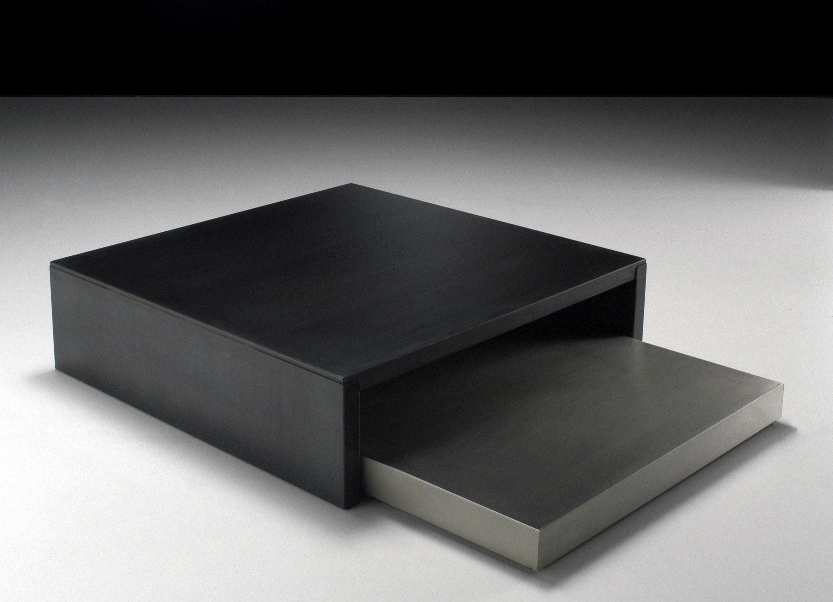 Table basse max moritz acier phosphat noir acier - Table basse acier noir ...
