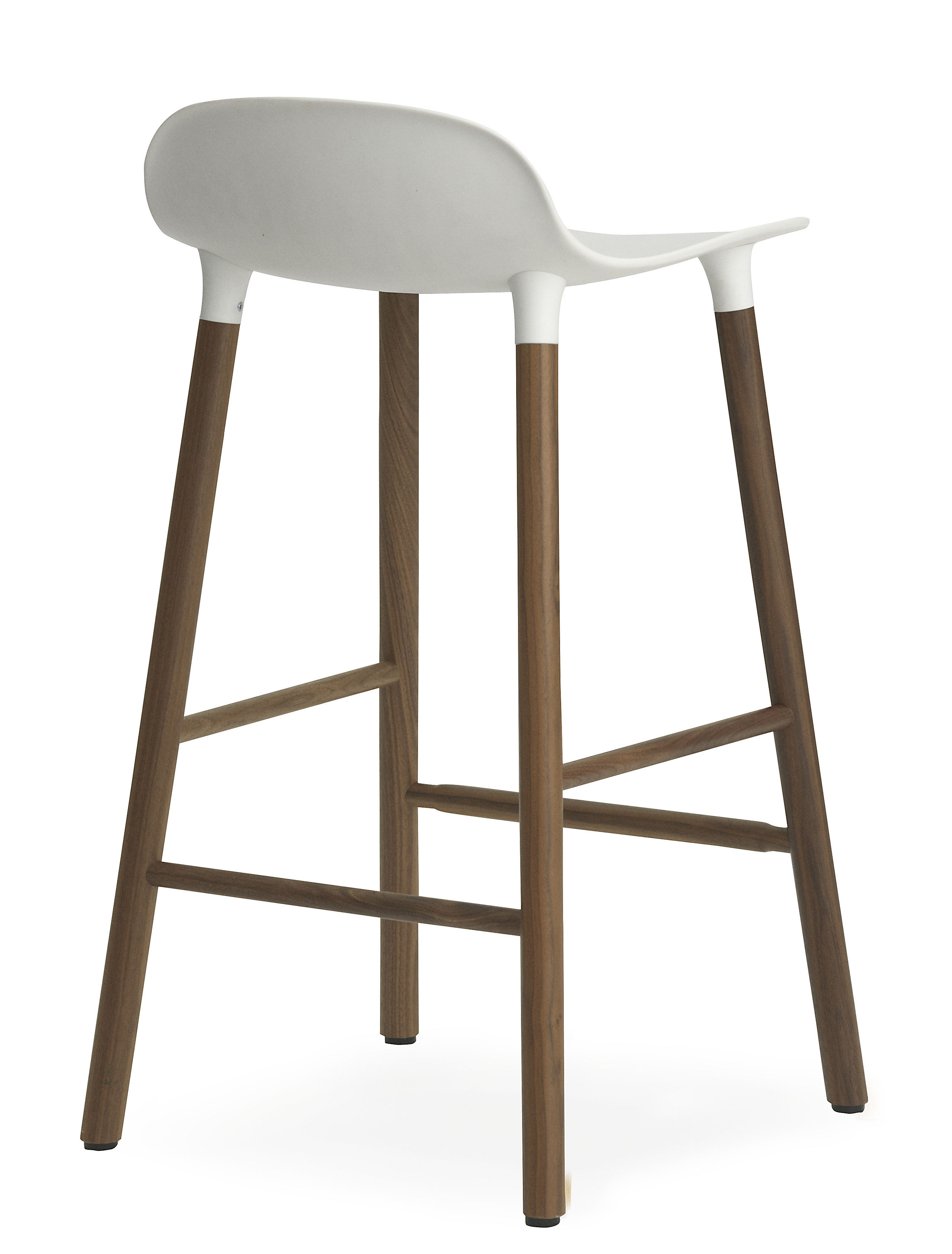 form bar stool h 65 cm walnut leg white walnut by. Black Bedroom Furniture Sets. Home Design Ideas