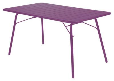 Foto tavolo da giardino Luxembourg - Rettangolare di Fermob - Melanzana - Metallo