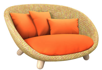 love sofa 2 seats l 130 cm multicoloured orange cushion sofa moooi. Black Bedroom Furniture Sets. Home Design Ideas