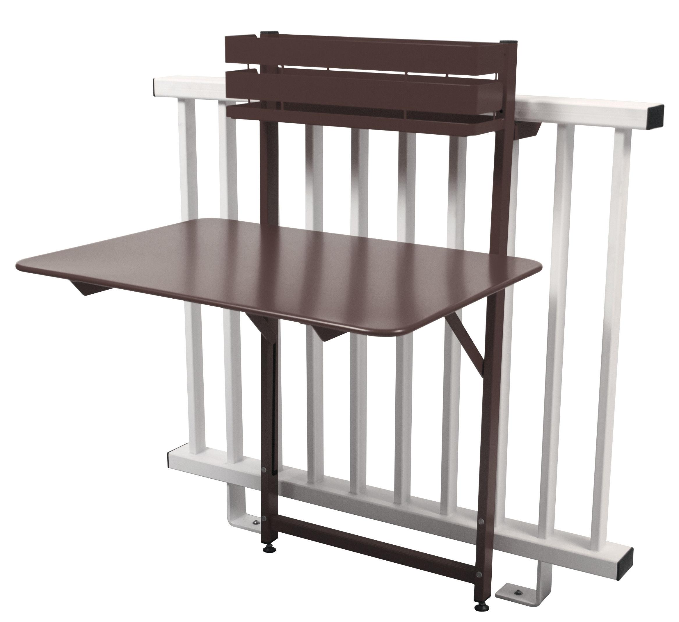 table pliante balcon bistro rabattable 77 x 64 cm rouille fermob. Black Bedroom Furniture Sets. Home Design Ideas