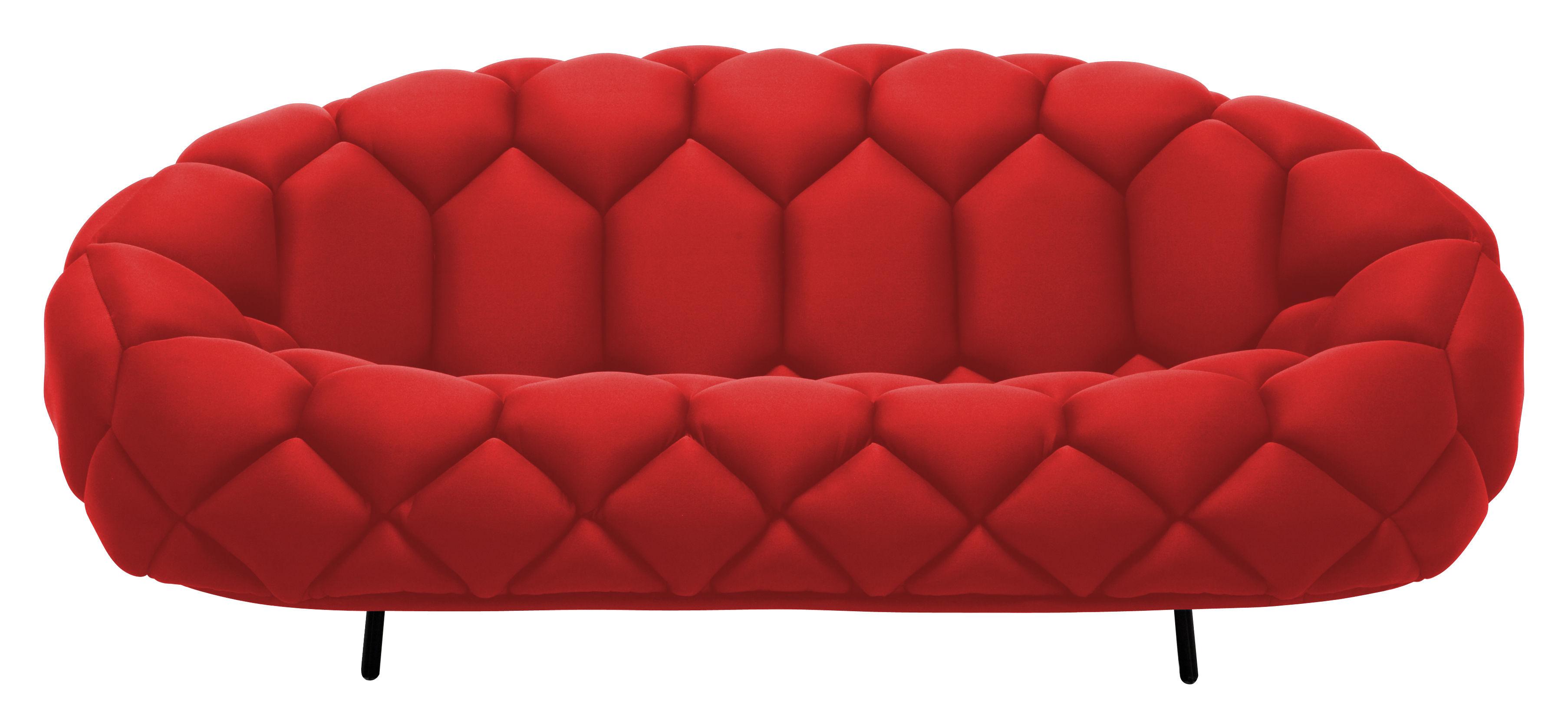 canap droit quilt l 210 cm rouge established sons. Black Bedroom Furniture Sets. Home Design Ideas