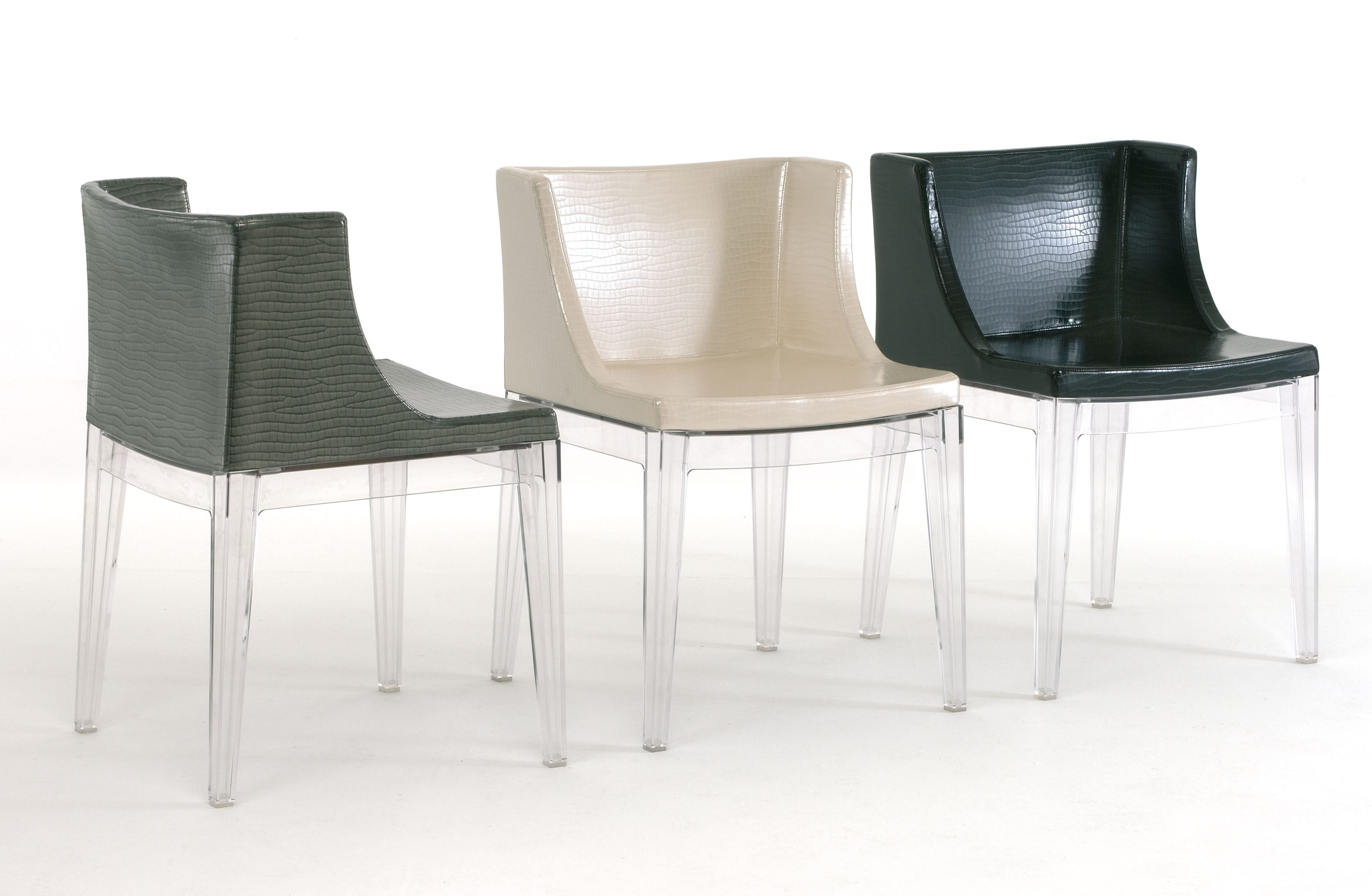 Fauteuil rembourr mademoiselle cocco structure transparente kartell - Chaise mademoiselle starck ...