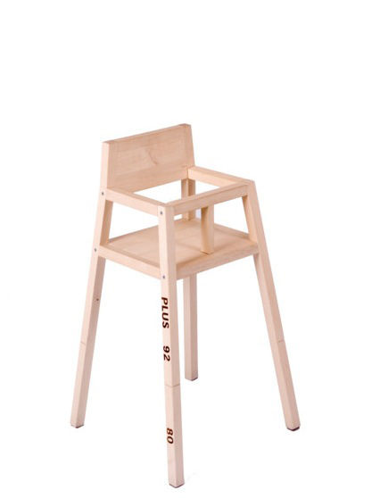 Chaise haute highchair modulable bois de pin droog design pop corn - Chaise haute modulable ...