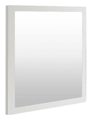 Miroir little frame 90 x 90 cm blanc demi opaque zeus for Miroir 90 cm