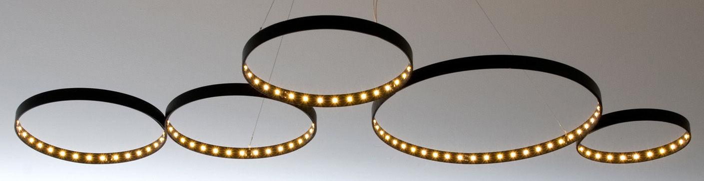 suspension super8 led 100 x 50 cm noir le deun. Black Bedroom Furniture Sets. Home Design Ideas