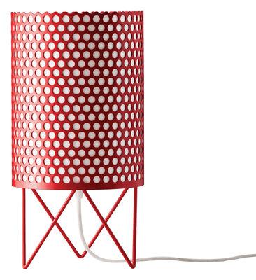 Foto Lampada da tavolo Pedrera ABC Ø 18 x H 35 cm - Gubi - Pedrera - Rosso - Metallo